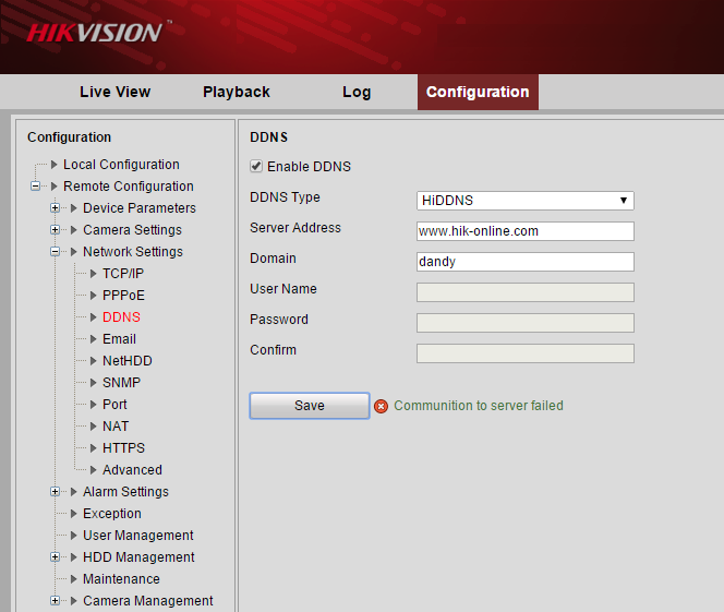 Hướng dẫn Fix lỗi đăng kí tên miền Hikvision