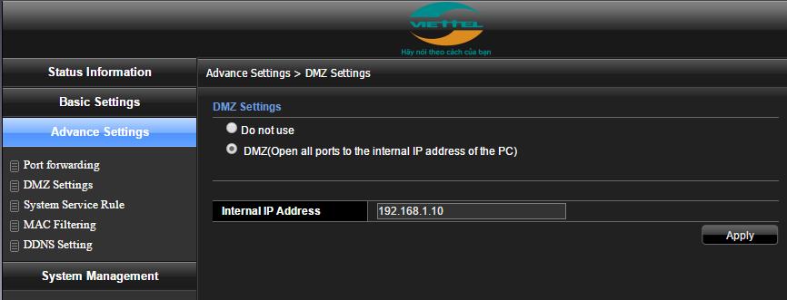 Hướng dẫn mở port modem gpon h640w
